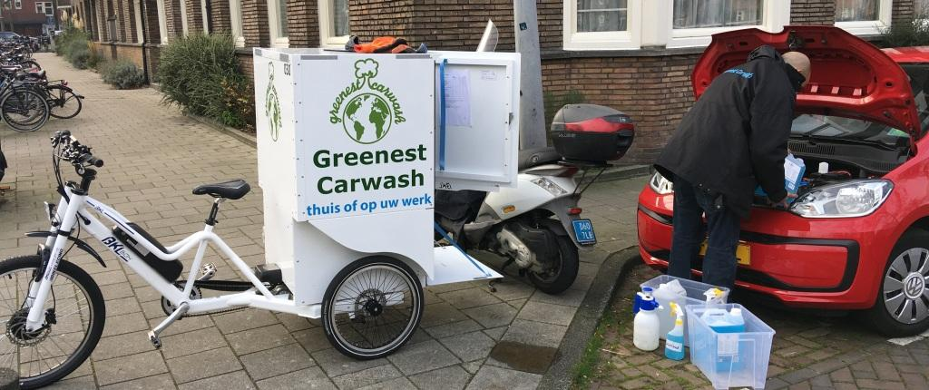 The Greenest Backfiets by Greenest Carwash